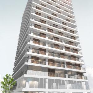 大阪市内 16階建てのホテル計画
